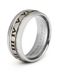 Swiss Legend - Metallic Men's Carbide Tungsten Ring for Men - Lyst