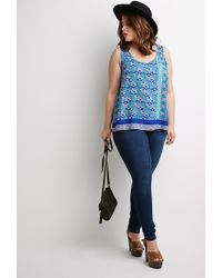 Forever 21 | Multicolor Plus Size Abstract Geo Print Top | Lyst