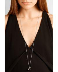 Arme De L'Amour   Metallic Double Drop Sphere Silver-plated Necklace   Lyst