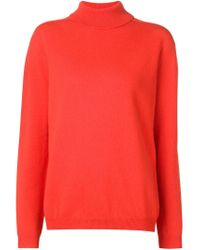Jil Sander - Red Turtle Neck Sweater - Lyst