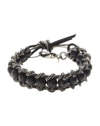 Emanuele Bicocchi | Black Bracelet for Men | Lyst