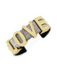 BCBGeneration - Goldtone Love Metallic Cuff Bracelet - Lyst
