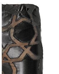 KTZ - Black Intarsia Design Lycra Shorts - Lyst