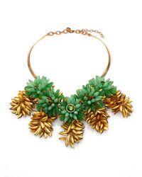 Tory Burch - Green Brynn Collar Necklace - Lyst