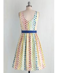 ModCloth   Multicolor In The Key Of Chic Dress In Polka Dots   Lyst
