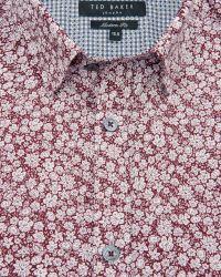 Ted Baker | Red Debonair Floral Print Shirt for Men | Lyst