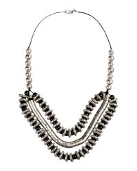 Class Roberto Cavalli | Metallic Necklace | Lyst