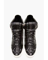 Giuseppe Zanotti | Black Paisley High_top Sneakers for Men | Lyst
