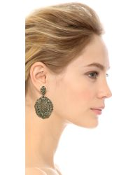 Aurelie Bidermann - Black Lace Earrings - Lyst