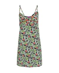 Liberty | Black Multicolour Poppy And Honesty Cotton Chemise | Lyst