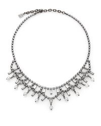 DANNIJO | Metallic Everett Crystal & Faux Pearl Bib Necklace | Lyst