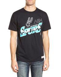 Mitchell & Ness - Black 'san Antonio Spurs - Last Second Shot' Graphic T-shirt for Men - Lyst