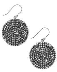 Lucky Brand | Metallic Silver-tone Pave Disk Earrings | Lyst