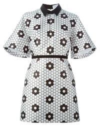 Caterina Gatta - Black Honeycomb Print Shirt Dress - Lyst