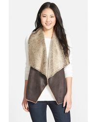 Marc New York | Brown 'Blake' Faux Shearling Vest | Lyst