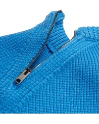 Burberry Prorsum | Blue Cashmere Crew Neck Sweater for Men | Lyst