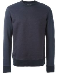 PS by Paul Smith - Blue Crew Neck Sweatshirt for Men - Lyst