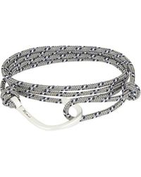 Miansai | Gray Silver Rope Hook Bracelet - For Men | Lyst