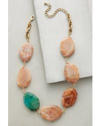 Anthropologie | Pink Agate Path Necklace | Lyst