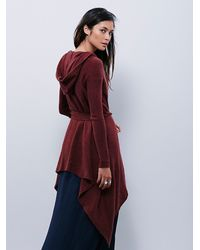 Free People | Purple Womens Sloane Hooded Wrap Cardi | Lyst