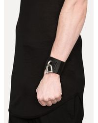 Parts Of 4 | Matte Brass/black Leather Restraint Bracelet for Men | Lyst