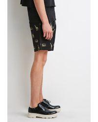 Forever 21 - Yellow Safari Animal Print Shorts for Men - Lyst