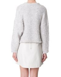 Tibi | Natural Boucle Cropped Cozy Pullover | Lyst