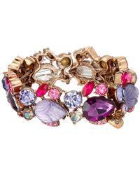 Betsey Johnson - Purple Fall Follies Rhinestone Bracelet - Lyst