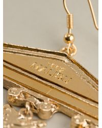 Malibu 1992 - Metallic Column Detail Earrings - Lyst