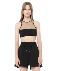 Alexander Wang | Black Mesh Combo Swim Top | Lyst