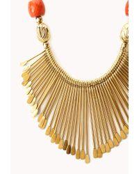 Forever 21 - Metallic Artifact Bib Necklace - Lyst