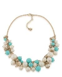 Carolee - Blue Pearl Bead Cluster Necklace - Lyst