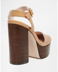 Faith - Brown Courvette 70's Platform Shoes - Lyst