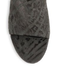 Tibi - Black Leona Terrain Leather Mules - Lyst