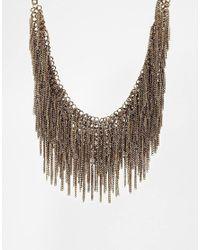 ALDO - Metallic Coney Chain Drape Collar Necklace - Lyst