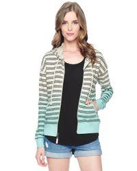 Splendid - Multicolor Stripe Dip Dye Hoodie - Lyst