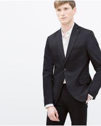 Zara | Blue Comfort Blazer for Men | Lyst