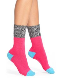 Hot Sox - Pink Colorblock Marled Boot Socks - Lyst
