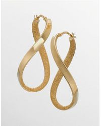 Lord & Taylor | Metallic Oval Hoop Earrings In 14k Yellow Gold | Lyst