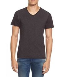 G-Star RAW | Black 'harm' Colorblock V-neck T-shirt for Men | Lyst