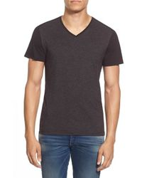 G-Star RAW - Black 'harm' Colorblock V-neck T-shirt for Men - Lyst