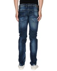 DIESEL - Blue Denim Trousers for Men - Lyst