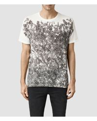 AllSaints - White Butterfly Crew T-shirt for Men - Lyst
