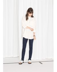 & Other Stories - White Oversized Shirt - Lyst