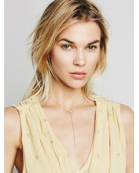 Free People - Metallic Zoe Chicco Womens Diamond Heart Lari - Lyst