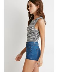Forever 21   Gray Striped Top   Lyst