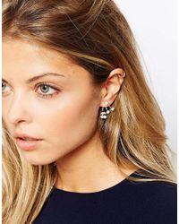 ASOS | Metallic Cherry Faux Pearl Swing Earrings | Lyst