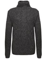 BOSS Orange | Gray Polo Neck Sweater 'inessal' In A Knitwear Mix | Lyst