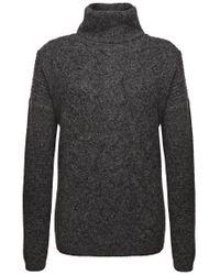BOSS Orange - Gray Polo Neck Sweater 'inessal' In A Knitwear Mix - Lyst