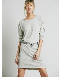 Free People | Natural X Cp Shades Womens Knit Midi Dress | Lyst